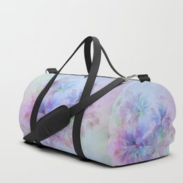 Soft Elegant Pastel Floral Abstract Duffle Bag