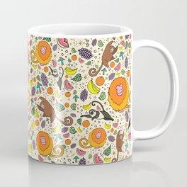 Cute Jungle and Monkeys Coffee Mug