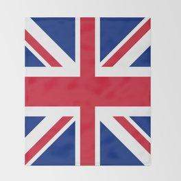 red white and blue trendy london fashion UK flag union jack Throw Blanket