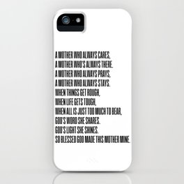 My Mother 2 #minimalism iPhone Case