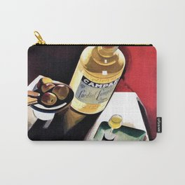Vintage Campari Italian Cordial Advertisement Wall Art Carry-All Pouch