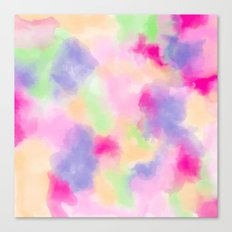 Modern colorful pink purple pastel watercolor paint abstract background Canvas Print