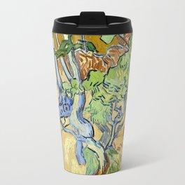 Vincent Van Gogh - Tree-roots, 1890 Travel Mug
