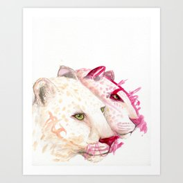 Leopards - A Collaboration with my Toddler Art Print