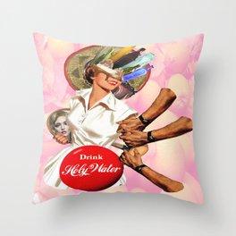 Coca-Christ Throw Pillow