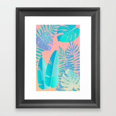 Tropics ( monstera and banana leaf pattern ) Framed Art Print