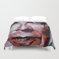 david bowie Duvet Covers featuring Bowie by Ray Stephenson