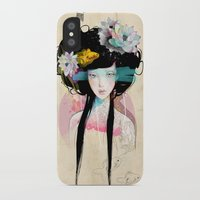 random iPhone & iPod Cases featuring Nenufar Girl by Ariana Perez