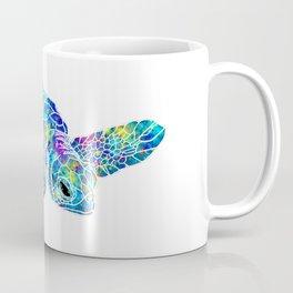 Colorful Sea Turtle Watercolor Art Coffee Mug
