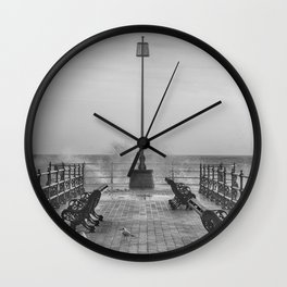Swanage Jetty in Mono Wall Clock