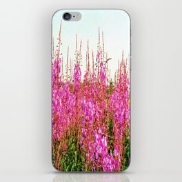 Field of lupins and wildflowers on Brier Island, Nova Scotia iPhone Skin