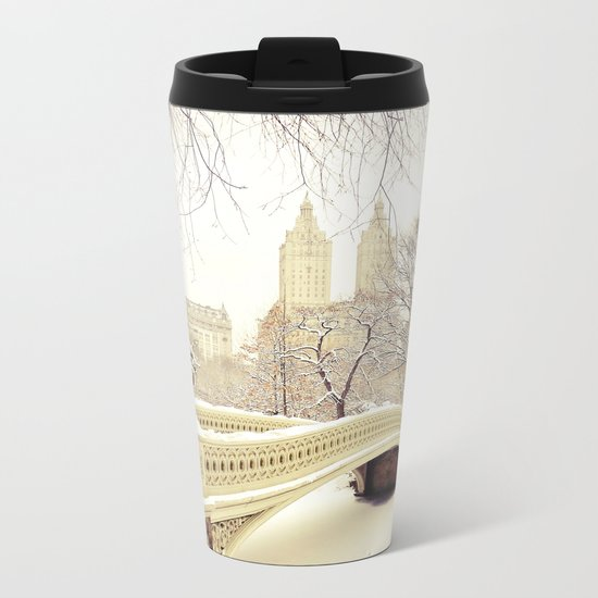 New York City Snow Wonderland Metal Travel Mug