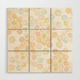 Bee and honeycomb watercolor Wood Wall Art