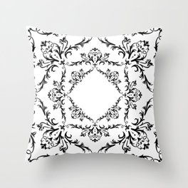 Abstract black ornament Throw Pillow