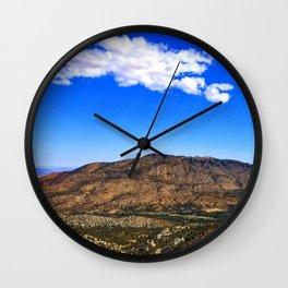 Desert Meets Mountain Wall Clock