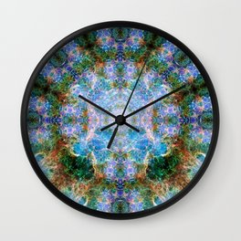 Nebula Mandala Wall Clock