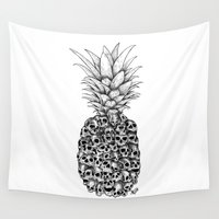 death Wall Tapestries featuring Tropical Death by Robin Clarijs