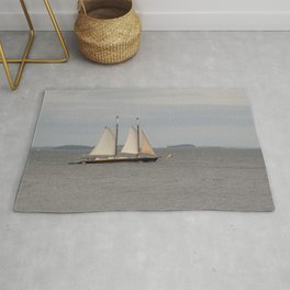 Schooner on the Atlantic Ocean Rug