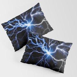 Blue Thunder Colorful Lightning digital impression Pillow Sham