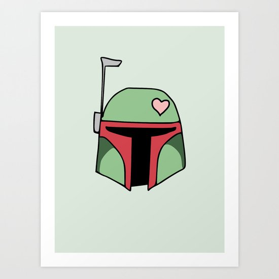 Boba Fett Valentine Art Print