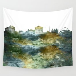 Athens City Skyline Greece Wall Tapestry