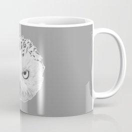 Snowy Owl Grey Coffee Mug