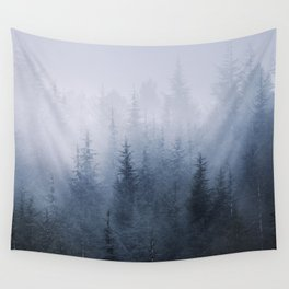 Misty fantasy forest. Wall Tapestry