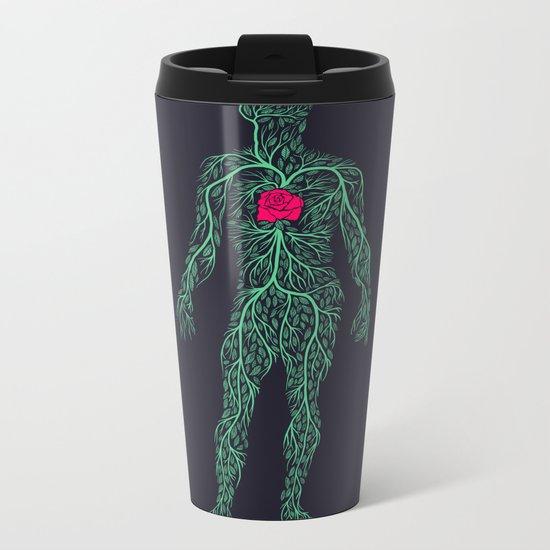 Spring Heart Metal Travel Mug