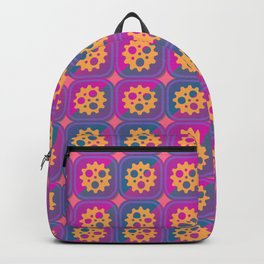 Gearwheels pattern Backpack