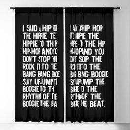 Rappers Delight Hip Hop in black Lyric Music Art Print Poster Blackout Curtain