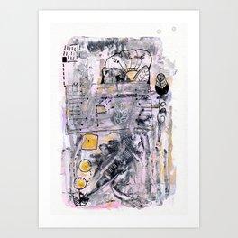 Abstrat Art gold pink Art Print