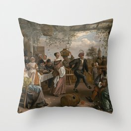 Jan Steen The Dancing Couple 1663 Painting Throw Pillow