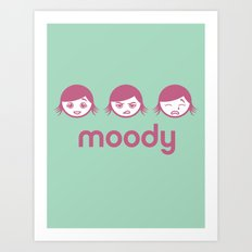 Moody Art Print
