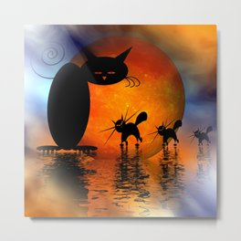 mooncat's catwalk Metal Print
