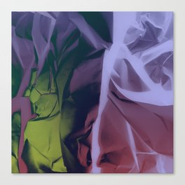 Deep Purple and Green Abstract Canvas Print