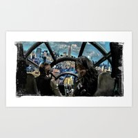 Smugglers in the city. Art Print
