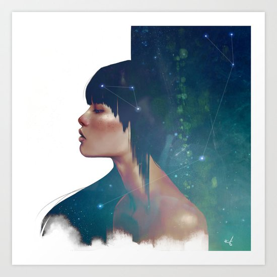 The Protector Constellation Art Print