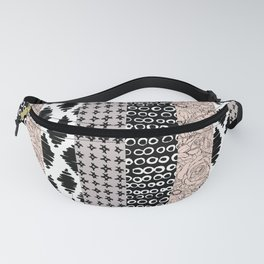 Vertical Stripe Patchwork Pattern Fanny Pack