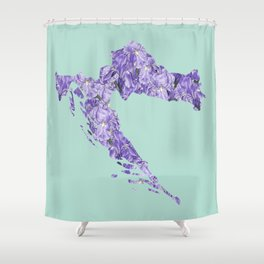 Croatia in Flowers Shower Curtain