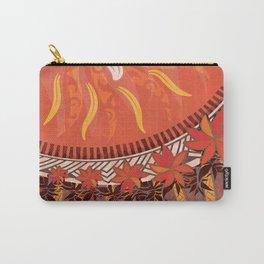 Mauna Kea Hawaiian Sun Tribal Print Carry-All Pouch