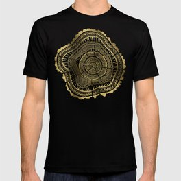 Gold Tree Rings T-shirt