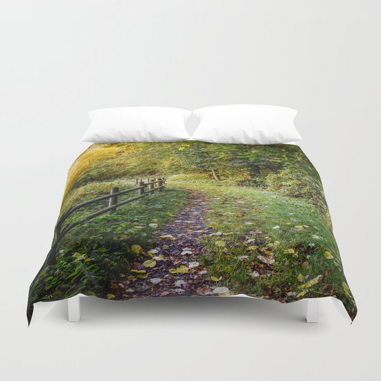 An Autumn Walk Duvet Cover