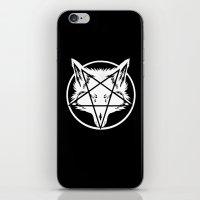 pentagram iPhone & iPod Skins featuring Pentagram Wolf by Mohrne