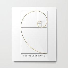 The Golden Ratio Spiral Metal Print