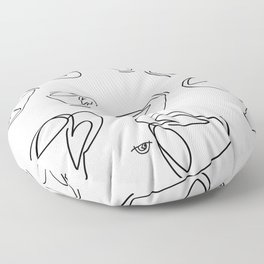 Cuppa Candor [Ivory] Floor Pillow