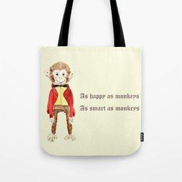 Mr Monkey Tote Bag