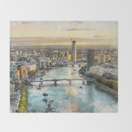 London city art 2 #london #city Throw Blanket