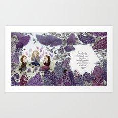 Little Lilac Ladies Art Print