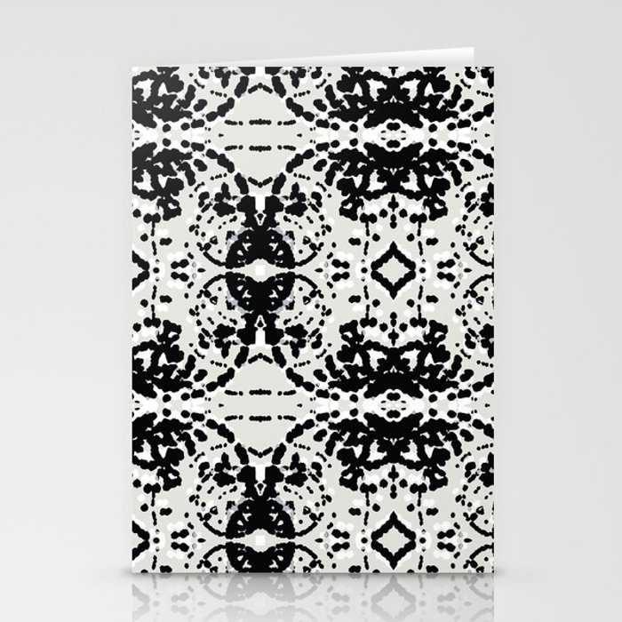 Black and White Particles Stationery Cards
