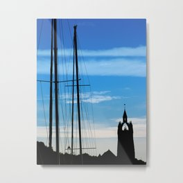 Masts and Tower Metal Print